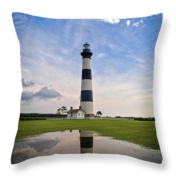 Bodie Island Lighthouse Throw Pillow