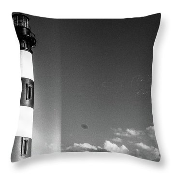 Bodie Island Lighthouse Throw Pillow by David Sutton