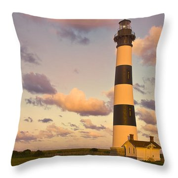 Throw Pillow featuring the photograph Bodie Island Lighthouse by Ken Barrett