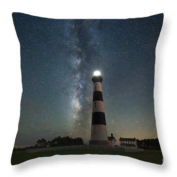 Bodie Island Lighthouse Milky Way Throw Pillow