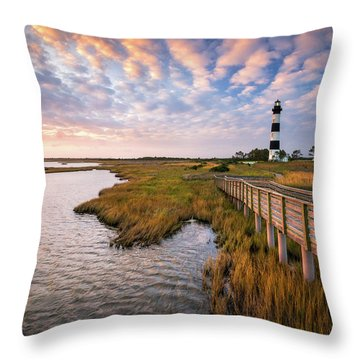 Bodie Island Lighthouse Outer Banks North Carolina Obx Nc Throw Pillow