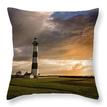 Bodie Lighthous Landscape Throw Pillow