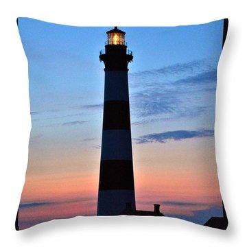 Bodie Lighthouse 7/18/16 Throw Pillow