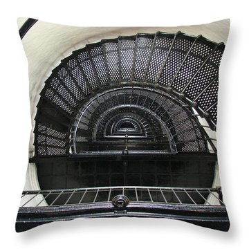 Bodie Lighthouse Nags Head Nc Iv Throw Pillow