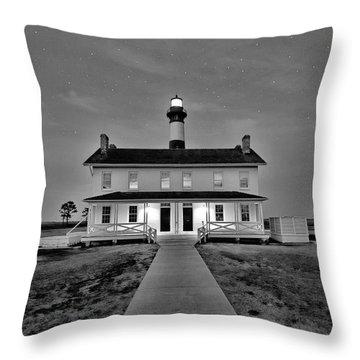 Bodie Lighthouse Night Throw Pillow
