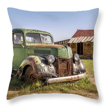 Bodie Pickup Truck Throw Pillow