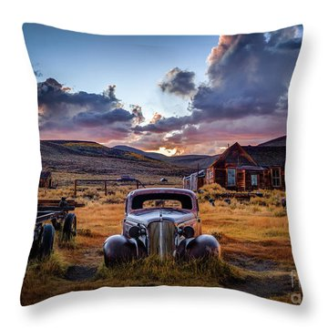 Bodie's 1937 Chevy At Sunset Throw Pillow