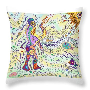Bodies In Natural Flow Throw Pillow