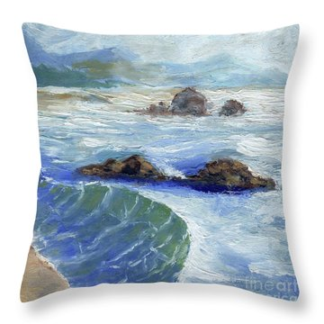 Bodiga Bay #2 Throw Pillow by Randy Sprout
