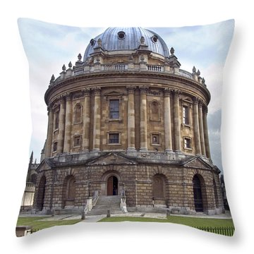 Bodlien Library Radcliffe Camera Throw Pillow by Jane Rix