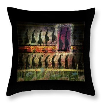 Body In Motion Throw Pillow