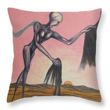 Body Soul And Spirit Throw Pillow