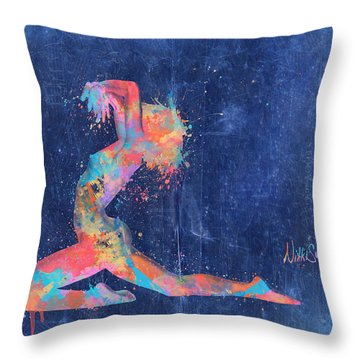 Bodyscape In D Minor - Music Of The Body Throw Pillow