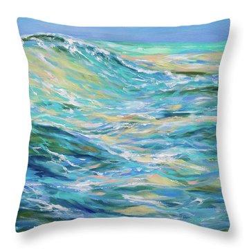 Bodysurfing North Throw Pillow