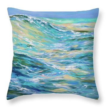 Bodysurfing North Throw Pillow