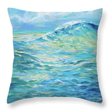 Bodysurfing Rolling Wave Throw Pillow