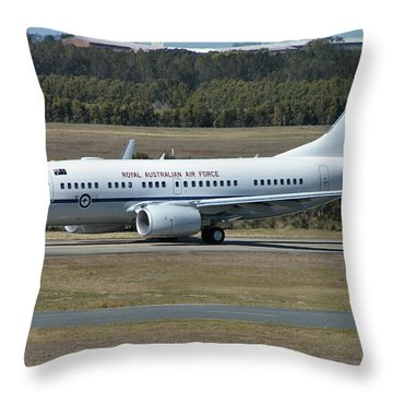 Boeing 737-7dt Throw Pillow