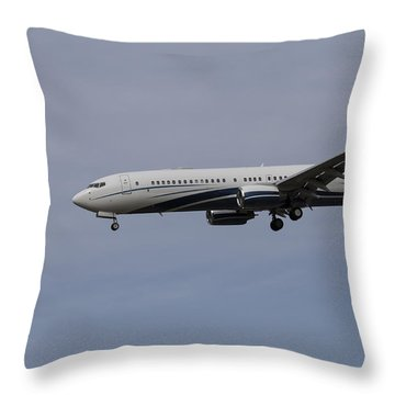 Boeing 737 Private Jet Throw Pillow