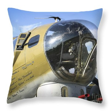 Throw Pillow featuring the photograph Boeing B-17 Flying Fortress by Ricky L Jones