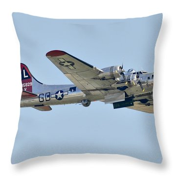Boeing B-17g Flying Fortress Throw Pillow by Alan Toepfer