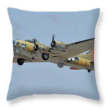 Boeing B-17g Flying Fortress N93012 Nine-o-nine Phoenix-mesa Gateway Airport Arizona April 15, 2016 Throw Pillow by Brian Lockett