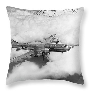 Boeing B-29 Superfortress Throw Pillow