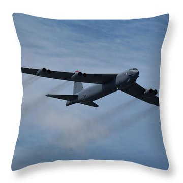 Throw Pillow featuring the photograph Boeing B-52h Stratofortress by Tim Beach