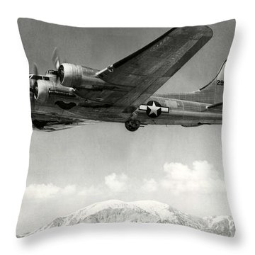 Boeing B17 1944 Throw Pillow