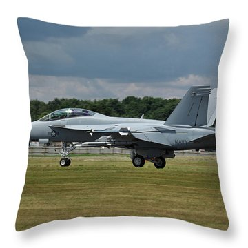 Throw Pillow featuring the photograph Boeing Super Hornet  by Tim Beach