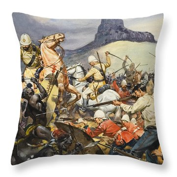 Boers And Natives Throw Pillow by James Edwin McConnell