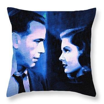 Bogart And Bacall - The Big Sleep Throw Pillow