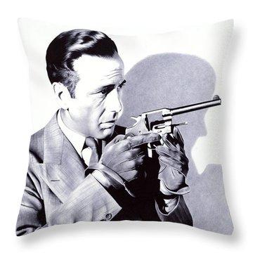Bogart - Ballpoint Pen Art Throw Pillow