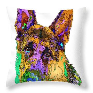 Bogart The Shepherd. Pet Series Throw Pillow