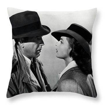 Bogey And Bergman Casablanca  1942 Throw Pillow