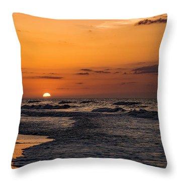 Bogue Banks Sunrise Throw Pillow