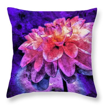 Throw Pillow featuring the mixed media Bohemian Bloom by Susan Maxwell Schmidt