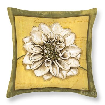 Bohemian Dahlia 1 Throw Pillow