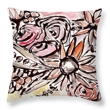 Bohemian Garden 1- Art By Linda Woods Throw Pillow