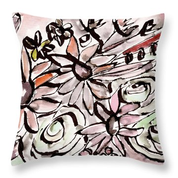 Bohemian Garden 2- Art By Linda Woods Throw Pillow