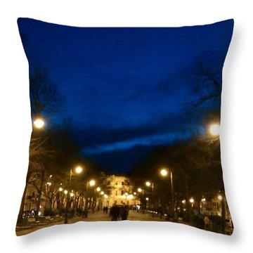 Bohemian Twilight Throw Pillow