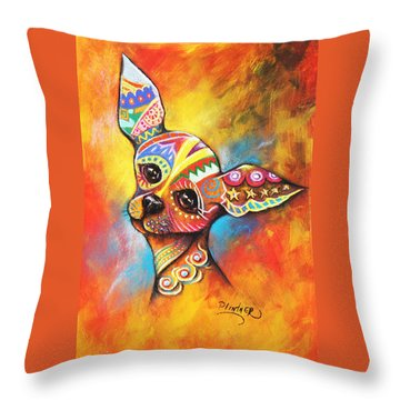 Chihuahua Throw Pillow by Patricia Lintner