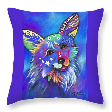Corgi Throw Pillow by Patricia Lintner