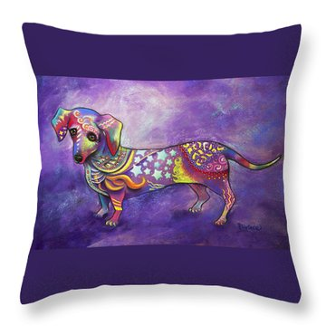 Dachshund Throw Pillow by Patricia Lintner