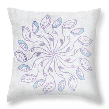 Boho Floral Mandala 3- Art By Linda Woods Throw Pillow