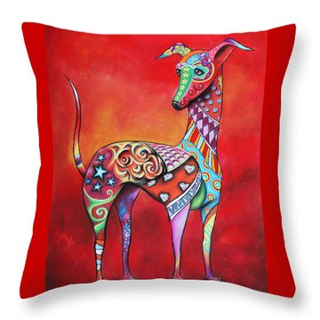 Italian Greyhound  Throw Pillow by Patricia Lintner