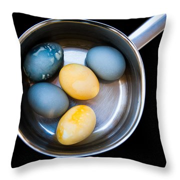 Throw Pillow featuring the photograph Boiled Eggs by Ari Salmela