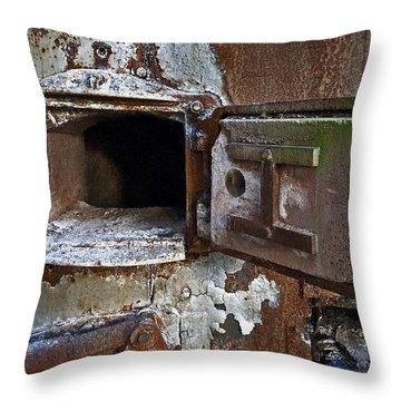Boiler Door Throw Pillow by Murray Bloom