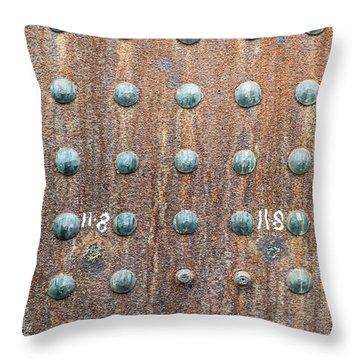 Boiler Rivets Throw Pillow