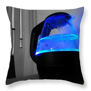 Boiling Blue Throw Pillow