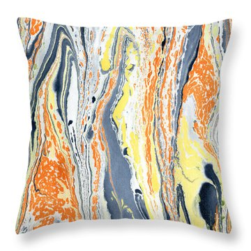Boiling Lava Throw Pillow